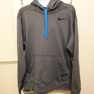 Nike Thermafit Small Swoosh Hoodie - Grey Blue